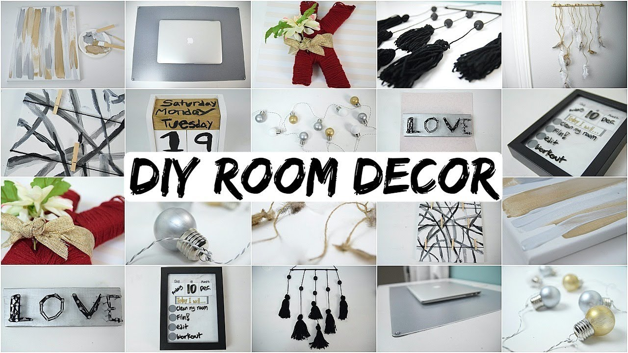 10 diy room decor ideas 2018 aesthetically pleasing youtube for Diy room decorations youtube