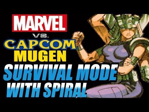 Marvel vs Capcom Mugen: Survival Mode w/ Spiral 44# Rounds