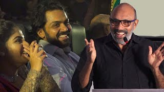 Sathyaraj Funny speech at Thambi Audio Launch | Karthi | Suriya | Jyothika | sathyaraj latest speech