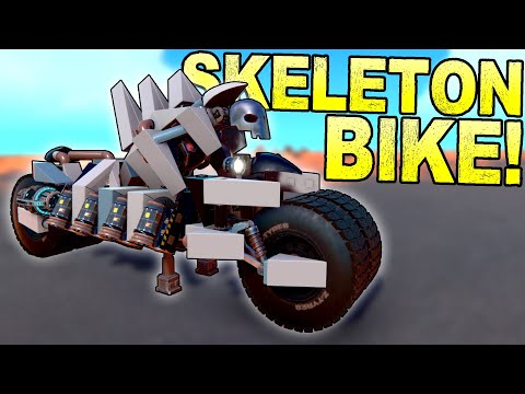 Skeletal Motorcycle of Mayhem and Other Spooky Builds! [BEST CREATIONS] - Trailmakers Gameplay