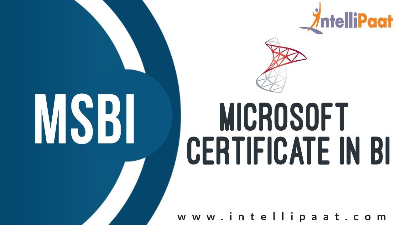 Microsoft Certification In Bi Msbi Tutorial Online Msbi Training