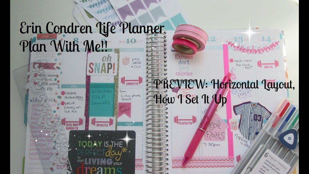 Erin Condren Life Planner Plan With Me Youtube