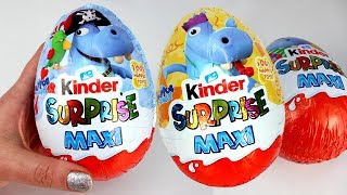 Kinder Surprise Maxi Eggs Opening The Happos Family Kinder Surprise Egg Toys for Kids