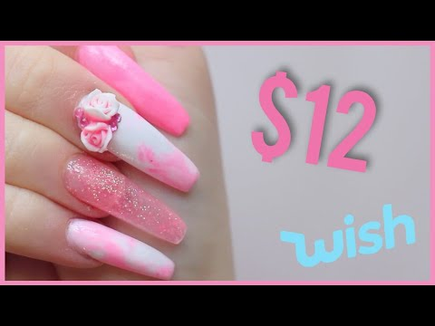 testing a acrylic nail kit from wish  youtube
