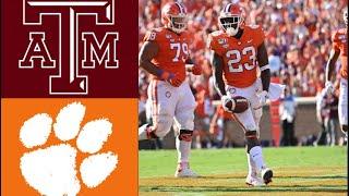 #12 Texas A&M vs #1 Clemson Highlights | NCAAF Week 2 | College Football Highlights