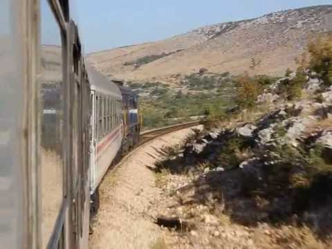 Split - Perković by train, lovely EMD sound