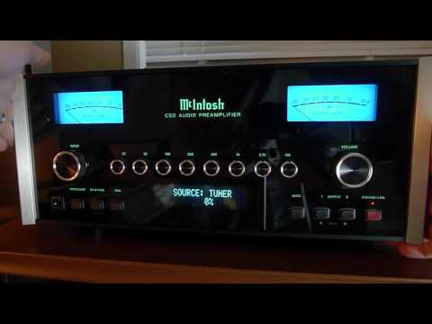 McIntosh C50 preamp overview