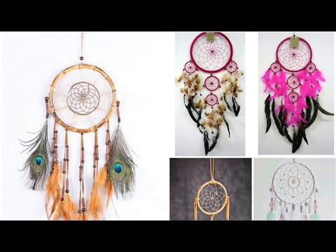 DIY dreamcatcher from cardboard paper with paper feathers