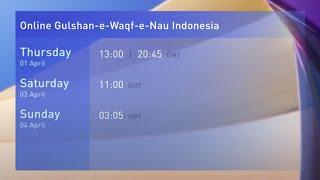 Online Gulshan-e-Waqf-e-Nau Indonesia Class | Promo