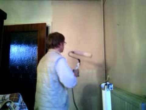 house painting rouleau a peinture électrique, wagner - youtube