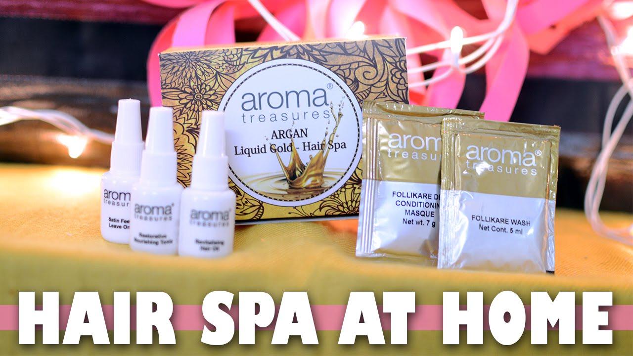 Hair Spa At Home Aroma Treasures Argan Liquid Gold Hair Spa Kit