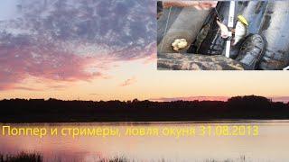 31 08 2013 поппер со стримерами Летняя рыбалка на реке