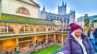 Exploring the Roman Baths & The City of Bath | Somerset, England | TRAVEL VLOG