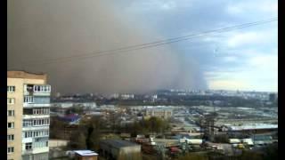 Песчаная буря в Хмельницком 13.04.2015 (Агата Кристи 'Ураган')