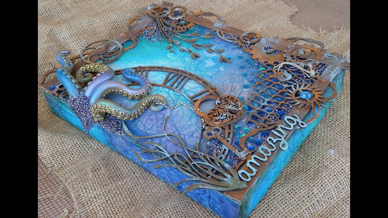 Octopus Mixed Media Tutorial by Gabrielle - YouTube
