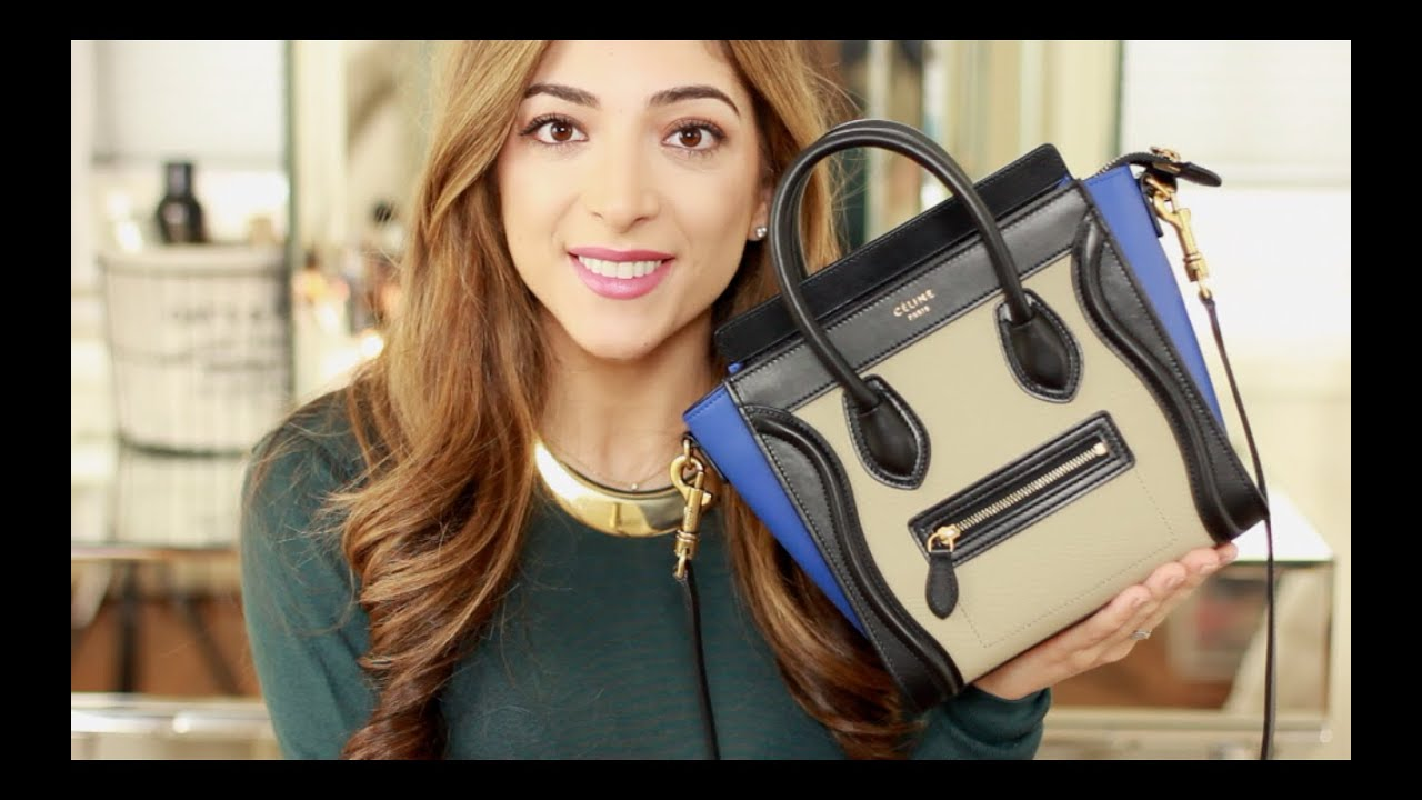 What\u0026#39;s In My Bag - C¨¦line Nano Luggage + Top 10 Lip Products ...