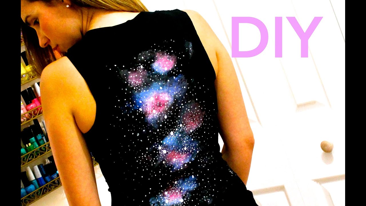 DIY Clothes! T-Shirt with Galaxy Effect on the Back! - How to