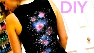 DIY Clothes! T-Shirt with Galaxy Effect on the Back! - How to Thumbnail
