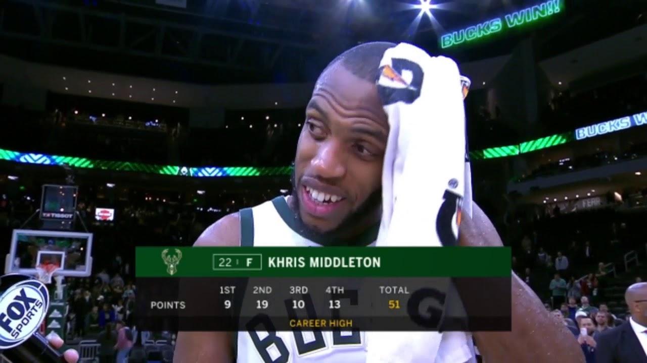 Bucks' Khris Middleton on career-high ...