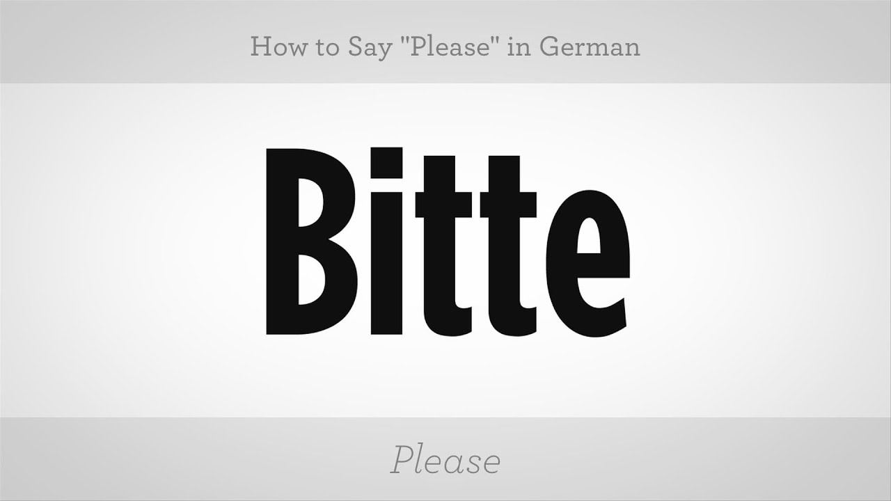 How To Say Please In German German Lessons Youtube