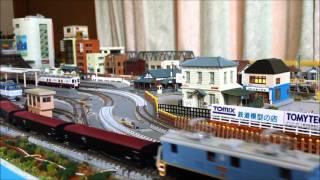 Nゲージ自宅レイアウト動画 近江鉄道ED14- 1形電気機関車
