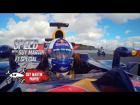 Red Bull F1 Car VS Guy's Bike - the drag race | Guy Martin Proper