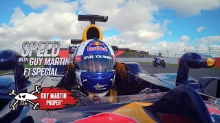 Red Bull F1 Car VS Guy's Bike - the drag race | Guy Martin Proper