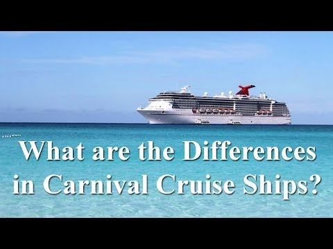 Differences  in Carnival Cruise Ships? - Carnival Cruise Liner Comparison