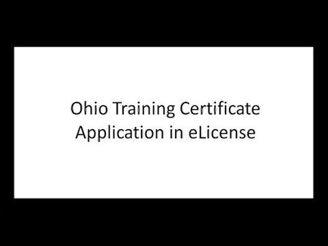 Training Certificate Application - YouTube