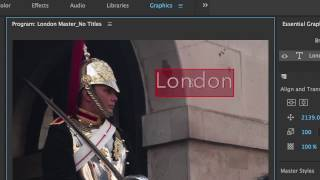 Creating a Title: Premiere Pro CC 2017 New Titler & Essential Graphics panel