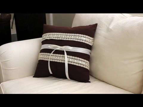 How To Decorate A Pillow With Ribbons Lace Ribbons Wreaths Delectable How To Decorate A Pillow