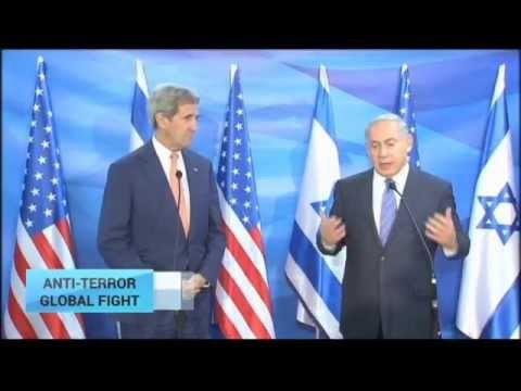 Anti-Terror Global Fight: PM Netanyahu Meets With US Secretary Of State Kerry