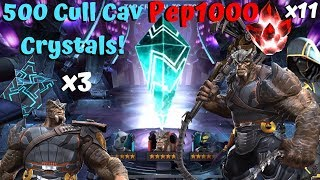 500 Cull Cavalier Crystals! 3x 6-Star Crystals! 11x 5-Star Crystals! Pep1000 - MCOC