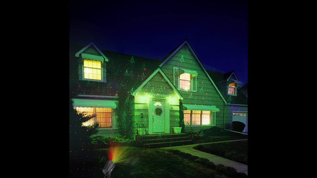 review 1byone magic outdoor laser light gives off brilliant lights with green christmas tree