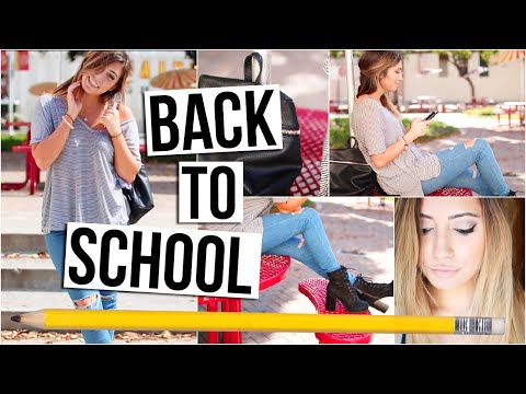 BACK TO SCHOOL ROUTINE: Makeup, Hair, Outfit Idea! | Tara Michelle, #Backtoschool