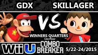 combo breaker skillager villager vs gdx diddy kong ssb4 wq smash wii u smash 4