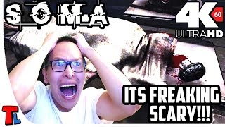 Let's Play SOMA at 4K 60 fps | Part 1 | Webcam Playthrough | Its Terrifying |