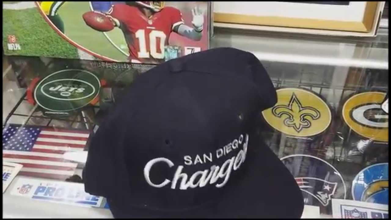NFL DeadStock Sports Specialties Script SnapBack Cap   Sandiego Chargers f2f4c1690