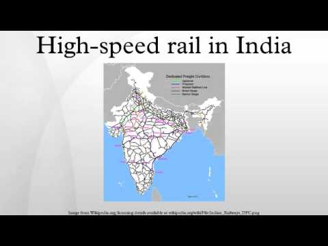 High-speed rail in India