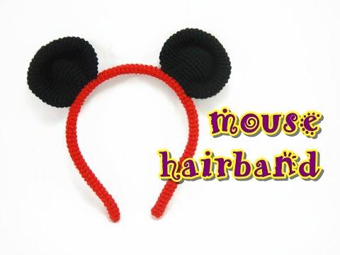 Crochet Tutorial - Mouse Hair Band