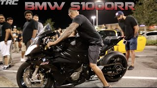 Insane nitrous S1000RR pulls hard on 1000HP Porsche!