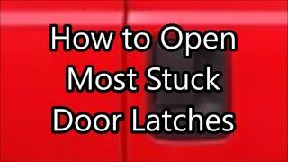 How to open stuck truck, van, or car door latch with broken cable housing