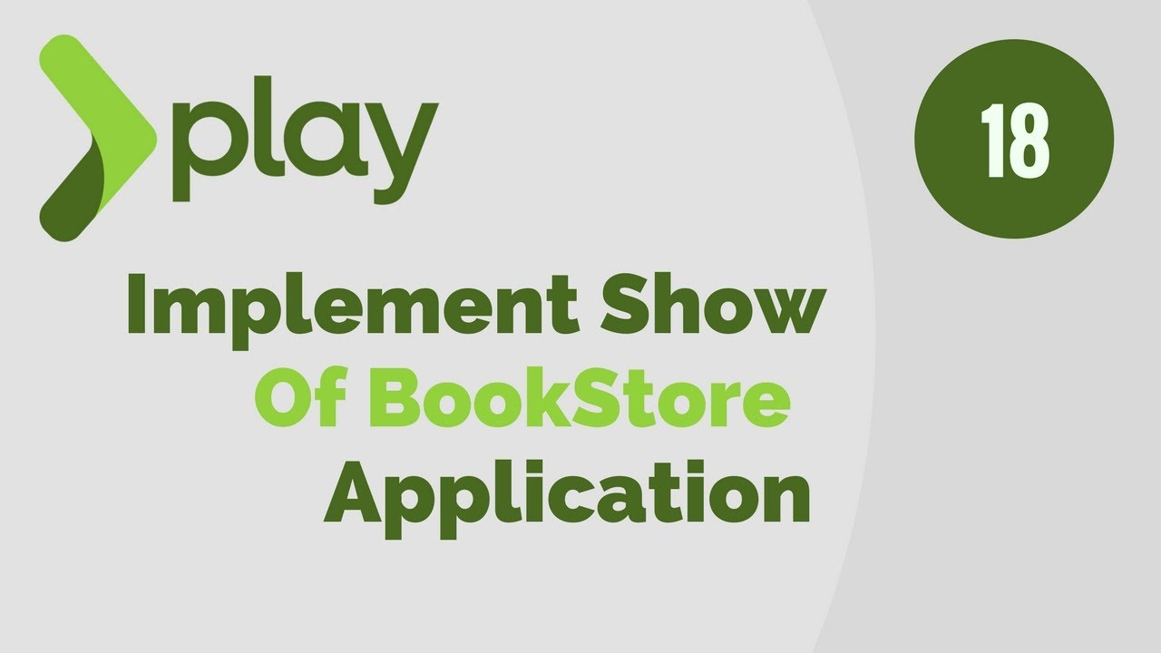 Play Framework Tutorial # 18 Implement Show Method of BookStore Application