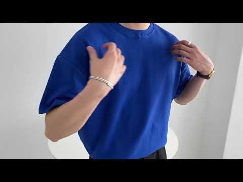 라이토 오버핏 반팔 티셔츠 (blue)