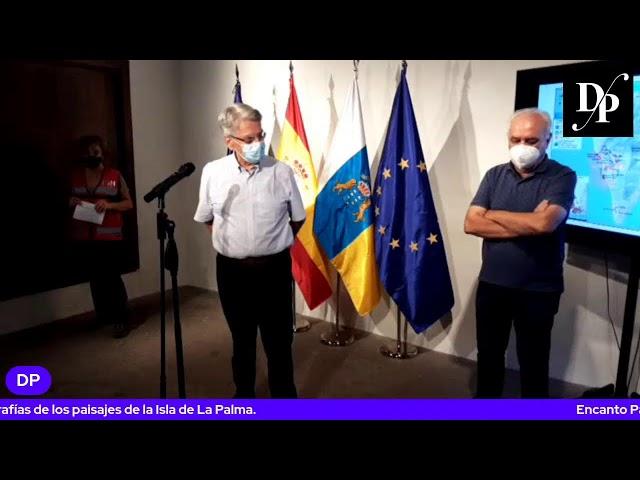 Declaraciones del Director técnico del Pevolca y del Consejero de Emergencia Julio Pérez.