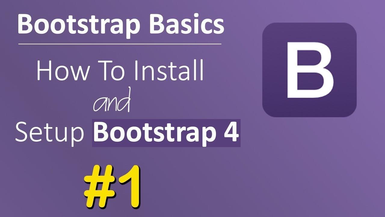 Bootstrap 4 Tutorial [#1] Introduction & installation [Manual & CDN]     Bootstrap 4 Beta 2017