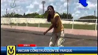 Se dio inicio a la construcción de parque de deportes en Monagas