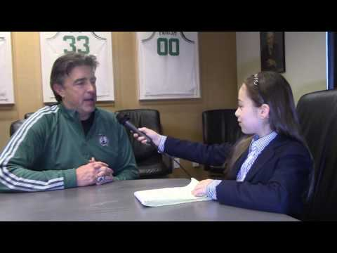 Shayna Interviewing Wyc Grousbeck