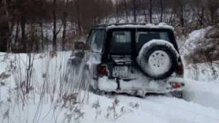 4x4 Nissan Patrol Y60  Winter off road -  Brzesko, Dębno 2008