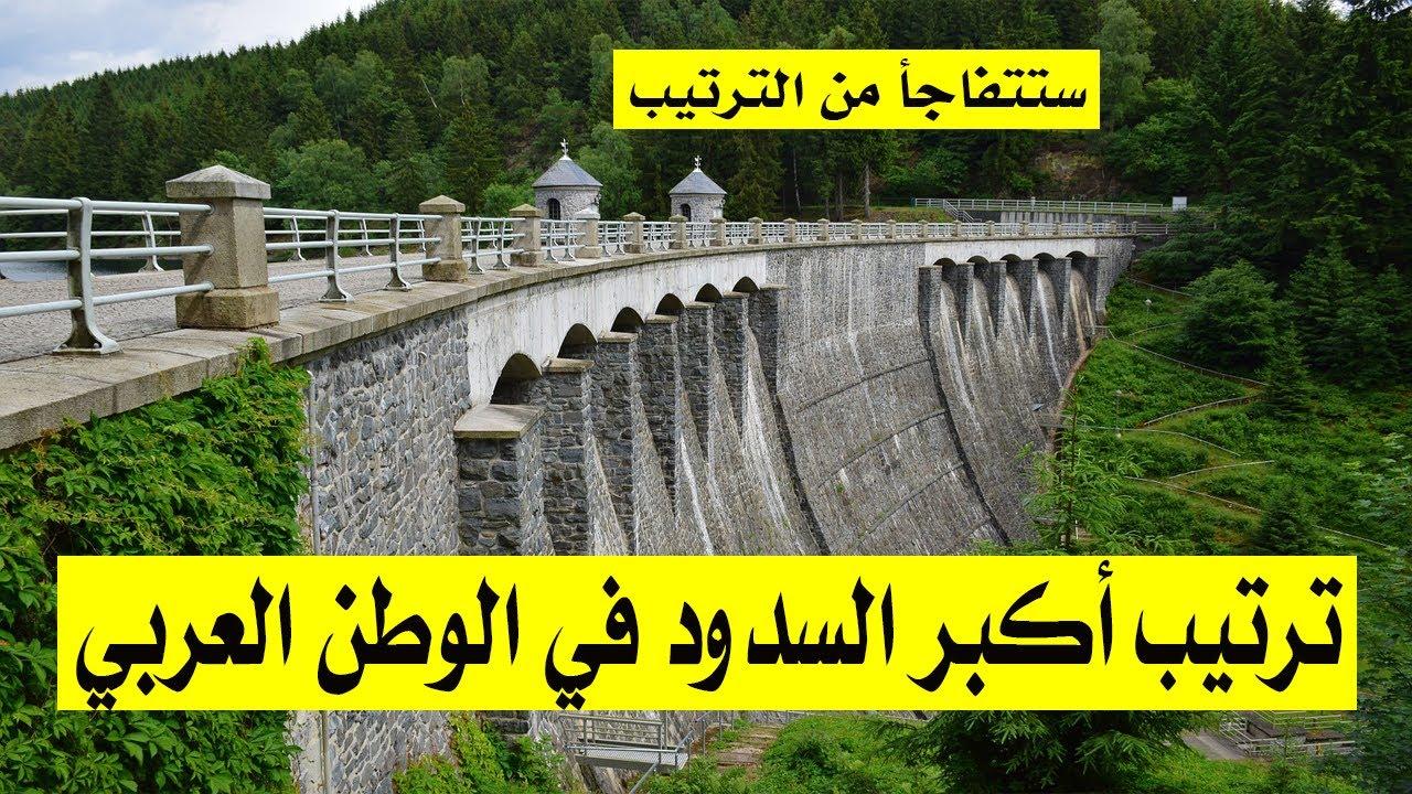 ترتيب أكبر السدود في الوطن العربي